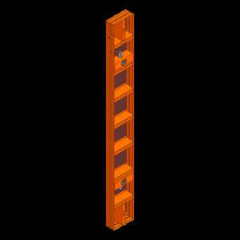 LOGO.pro Element 30x270cm incl. 2 Wechselhülsen