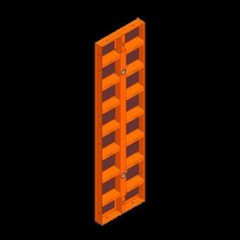 LOGO.pro Element 75x270cm incl. 2 Wechselhülsen