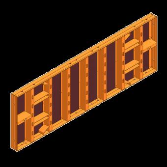 LOGO.3-Schalung 90cm hoch LOGO.3 Element 270x90cm mit 8 Spannstellen